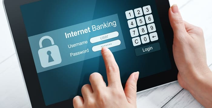Internet banking concept