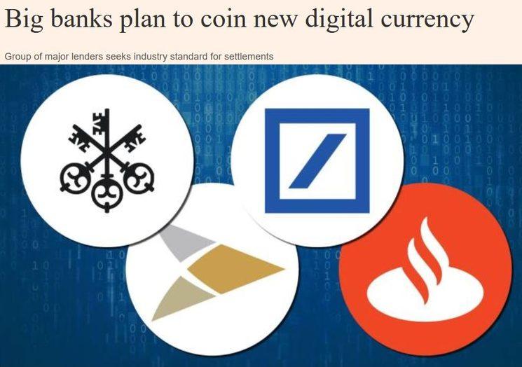 10 крупных банков мира создают новую криптовалюту USC