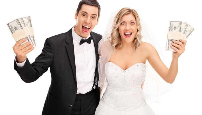 Близкие родственники на свадьбе