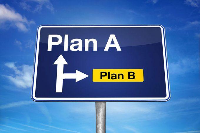Не сработал предложенный план Подумайте об альтернативе