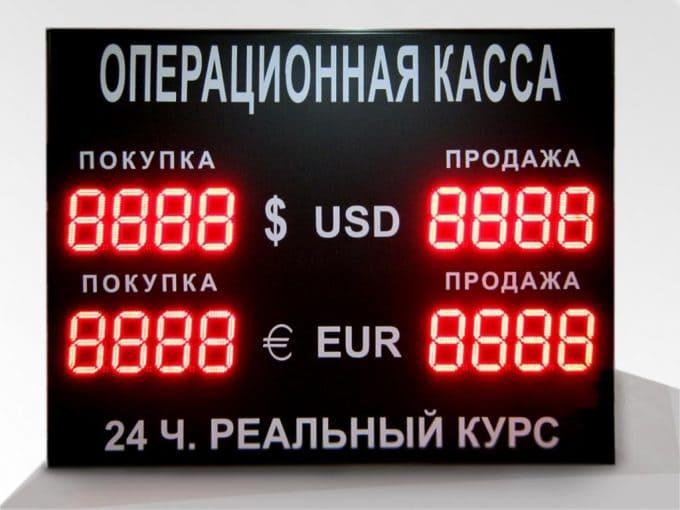 Обмен валют в разных банках