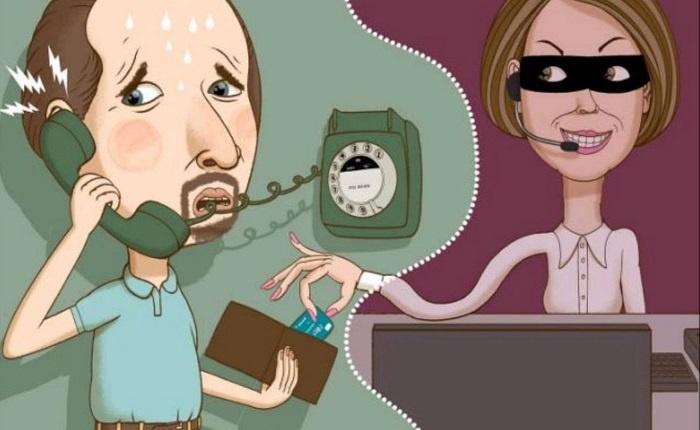 Собеседник звонит с номера банка
