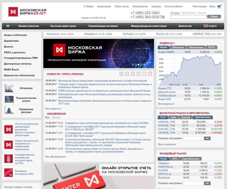 MOEX - Московская биржа