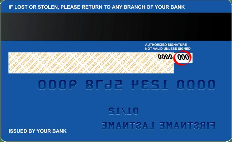 CVV номер кредитной карты